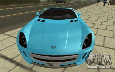 Benefactor Surano GTA V para GTA San Andreas vista direita