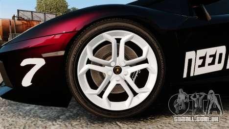 Lamborghini Aventador LP700-4 2012 [EPM] NFS para GTA 4 vista de volta
