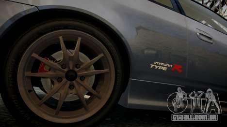 Honda Mugen Integra Type-R 2002 para GTA 4 vista de volta