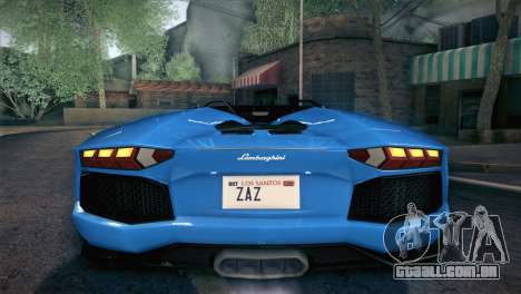 Lamborghini Aventador Roadster para o motor de GTA San Andreas