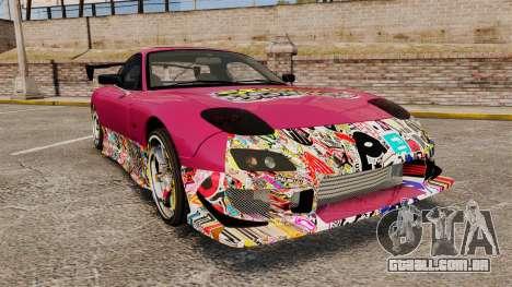 Mazda RX-7 D1 Sticker Bomb para GTA 4