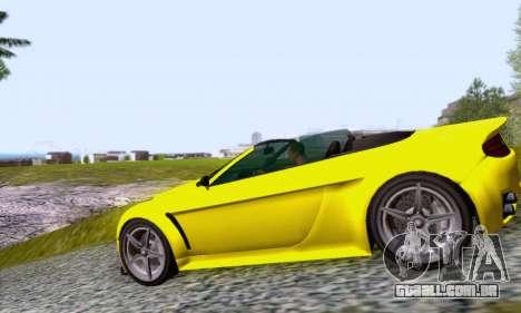 GTA V Rapid GT Cabrio para GTA San Andreas esquerda vista