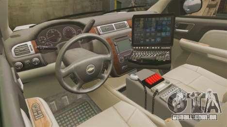 Chevrolet Tahoe 2008 LCPD [ELS] para GTA 4 vista de volta