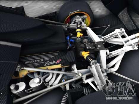 Pagani Zonda R 2009 para GTA San Andreas vista interior