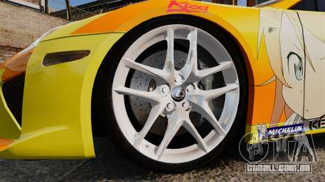 Lexus LF-A 2010 [EPM] Goodsmile Racing para GTA 4 vista de volta