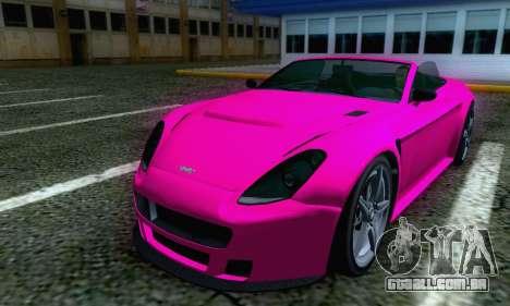 GTA V Rapid GT Cabrio para GTA San Andreas traseira esquerda vista