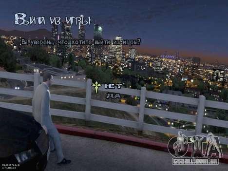 New Menu GTA 5 para GTA San Andreas sétima tela