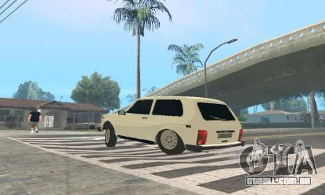 VAZ 21214 Avtosh para GTA San Andreas traseira esquerda vista