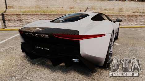 Jaguar C-X75 [EPM] Carbon Series para GTA 4 traseira esquerda vista