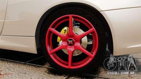 Nissan Skyline GT-R R34 V-Spec II para GTA 4 vista de volta