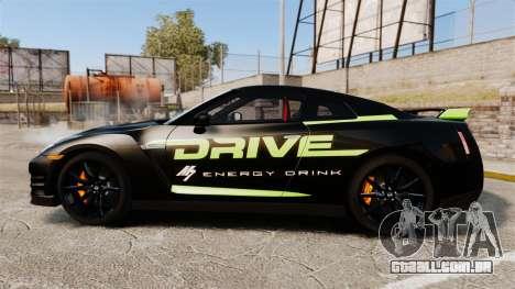 Nissan GT-R Black Edition 2012 Drive para GTA 4 esquerda vista
