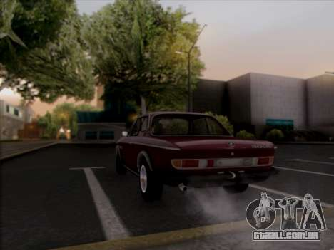BMW 3.0 CSL 1971 para GTA San Andreas vista interior