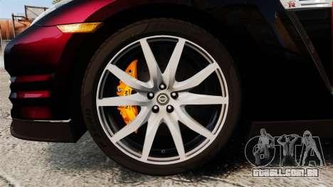 Nissan GT-R Black Edition 2012 Drive para GTA 4 vista de volta