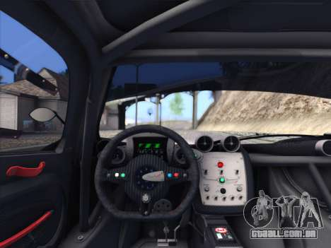 Pagani Zonda R 2009 para GTA San Andreas vista traseira