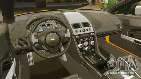 Aston Martin V12 Vantage S 2013 para GTA 4 vista interior