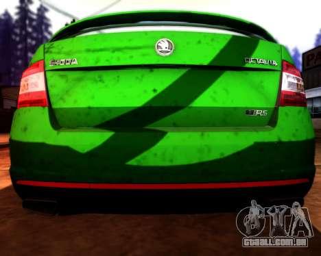 Skoda Octavia A7 RS para GTA San Andreas vista superior