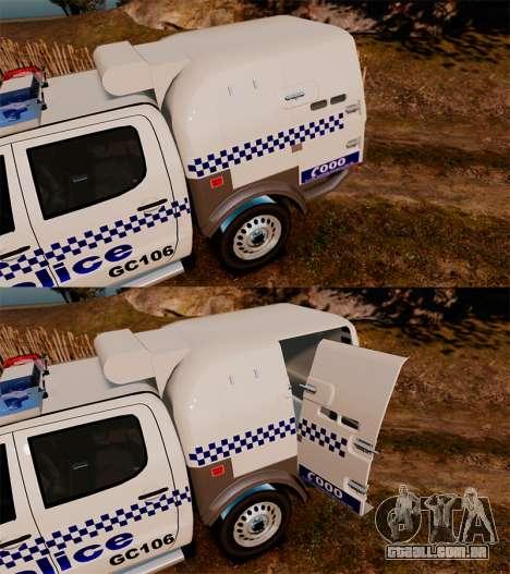 Toyota Hilux Police Western Australia para GTA 4 vista lateral