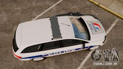 Ford Mondeo IV Wagon Police Nationale [ELS] para GTA 4 vista direita