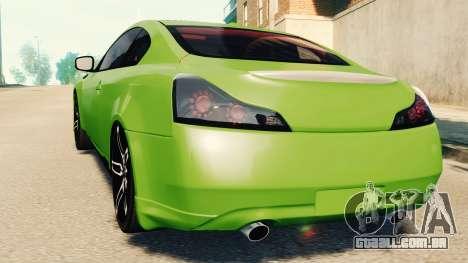 Infiniti G37 2008 Black Shark Pro-Service v1.0 para GTA 4 esquerda vista