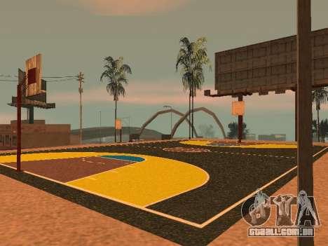 Nova quadra de basquete para GTA San Andreas sétima tela