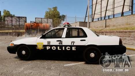Ford Crown Victoria Japanese Police [ELS] para GTA 4 esquerda vista