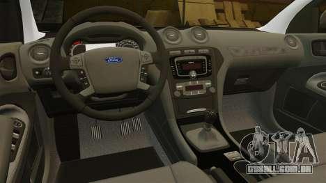 Ford Mondeo Croatian Police [ELS] para GTA 4 vista superior