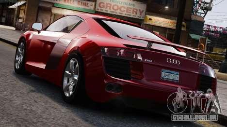 Audi R8 v1.1 para GTA 4 interior