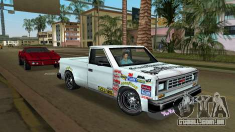 Bobcat Turbo para GTA Vice City vista traseira esquerda