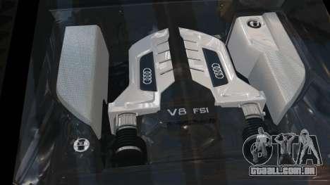 Audi R8 v1.1 para GTA 4 vista lateral