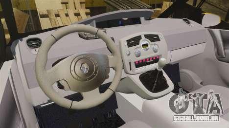 Renault Espace Police Nationale [ELS] para GTA 4 vista interior