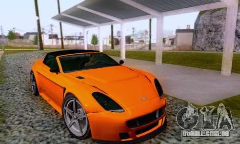 GTA V Rapid GT Cabrio para GTA San Andreas vista inferior