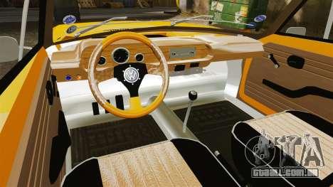 Volkswagen SP2 para GTA 4 vista de volta