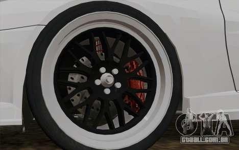 Toyota Supra TRD para GTA San Andreas traseira esquerda vista