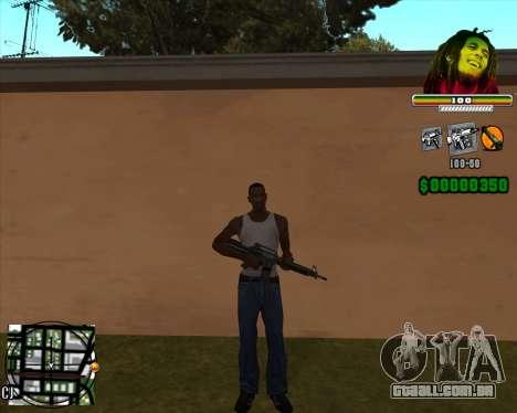 C-HUD Bob Marley para GTA San Andreas