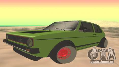 Volkswagen Golf Mk1 Low para GTA San Andreas