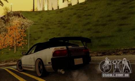 Nissan SX 240 para GTA San Andreas traseira esquerda vista