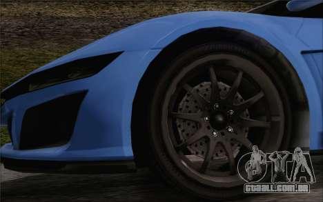 GTA V Dinka Jester HQLM para GTA San Andreas traseira esquerda vista