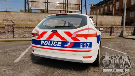 Ford Mondeo IV Wagon Police Nationale [ELS] para GTA 4 traseira esquerda vista