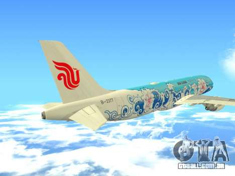 Airbus A320 Air China para GTA San Andreas vista superior