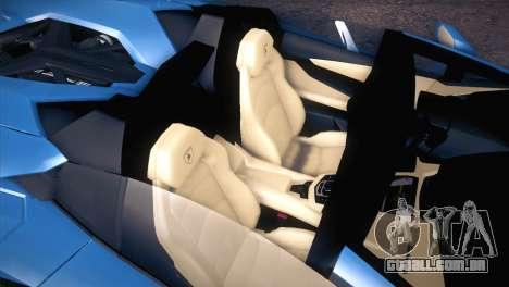 Lamborghini Aventador Roadster para GTA San Andreas vista interior