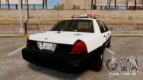 Ford Crown Victoria Japanese Police [ELS] para GTA 4 traseira esquerda vista