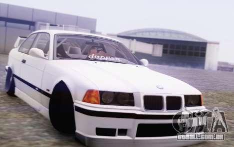 BMW M3 E36 Hellaflush para GTA San Andreas vista traseira