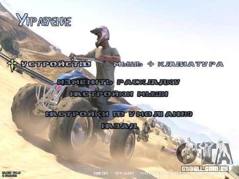 New Menu GTA 5 para GTA San Andreas quinto tela