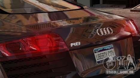 Audi R8 v1.1 para GTA 4 vista interior