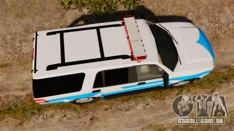 Ford Expedition Japanese Police SSV v2.5F [ELS] para GTA 4 vista direita