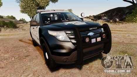 Ford Explorer 2013 LCPD [ELS] Black and Gray para GTA 4