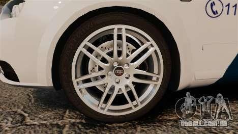 Audi S4 Avant Hungarian Police [ELS] para GTA 4 vista de volta