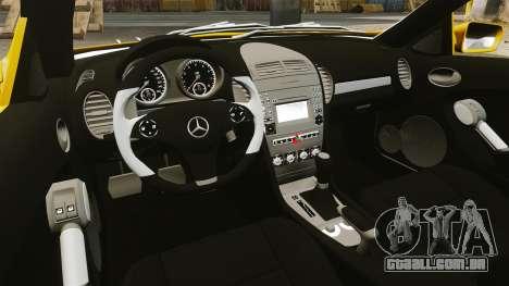Mercedes-Benz SLK 55 AMG 2014 v1.4 para GTA 4 vista interior