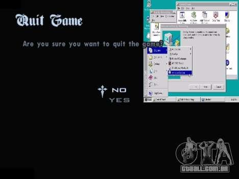 O Menu Do Windows para GTA San Andreas oitavo tela