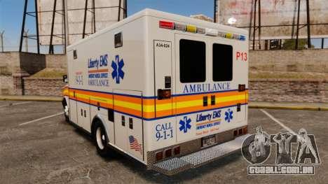 Brute Speedo LEMS Ambulance [ELS] para GTA 4 traseira esquerda vista